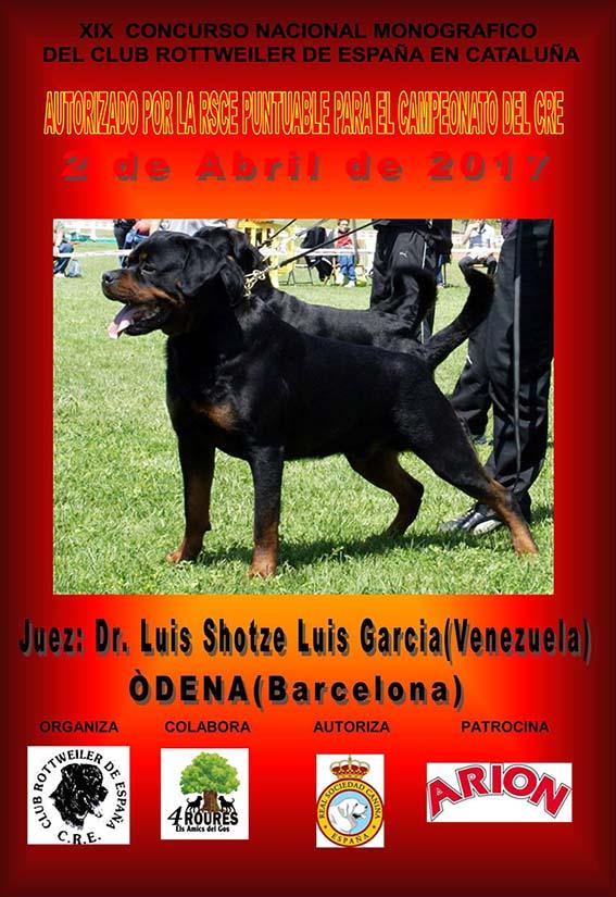 XIX Concurso Nacional Monográfico del Club Rottweiler de España en Cataluña